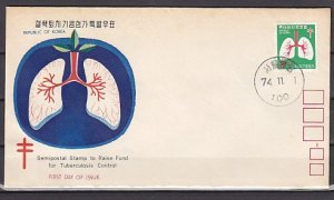 South Korea, Scott cat. B17. Tuberculosis Control issue. First day cover. ^