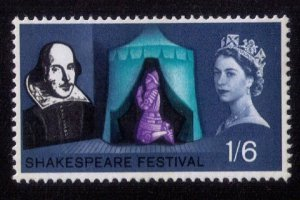 Great Britain Sc #405 MNH Shakespeare  F-VF