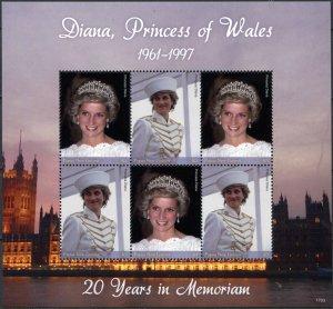 Papua New Guinea. 2017. Diana - Princess of Wales (MNH OG) Miniature Sheet