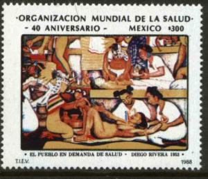 MEXICO 1539 40th Anniversary World Health Organization MNH