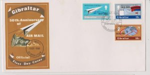 Gibraltar Sc#410-412 First Day Cover