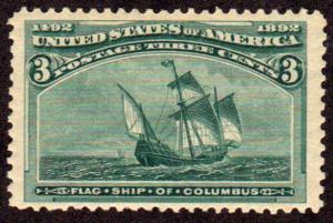 MALACK 232 VF OG NH, Wide Stamp! w2486