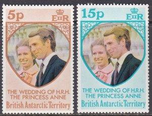 British Antarctic Territory Sc #60-61 MNH; Mi #60-61