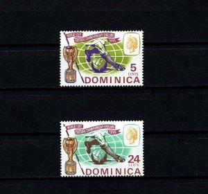 DOMINICA - 1966 - QE II - SOCCER - WORLD CUP - TROPHY - 2 X MINT - MNH SET!
