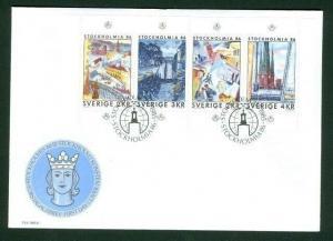 Sweden. FDC Cachet 1985.  Stockholmia 86 III  . Engraver Cz Slania - L. Sjooblom
