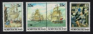 Norfolk Bicentenary The First Fleet 4v SG#421-424 SC#417-420