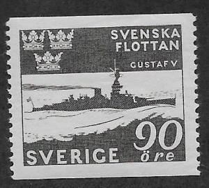 SWEDEN SC# 355  FVF/MOG  HINGE REMNANT 1944