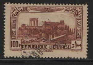 LEBANON, C74, USED, 1937-40, Ruins of Baalbek