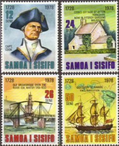 Samoa #474-77 MNH ships
