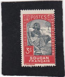 French Sudan #63 unused