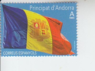 2019 Sp Andorra Flag (Scott 458) MNH