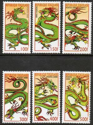 Togo 2000 New Year Dragon VFMNH (1912-17)