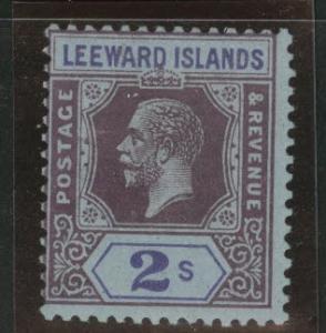 Leeward Islands Scott 77 MH* KGV 1923 Die II CV$17.50