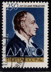 Russia Scott 2784 Denis Diderot stamp Used