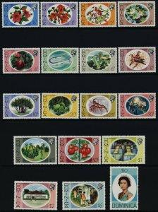 Dominica 454-71 MNH Queen Elizabeth, Flowers, Birds, Fruit, Crayfish
