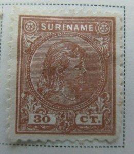 Surinam 1892-93 30c Fine MNG A13P9F941