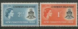 Cayman Islands - Scott 151-52 - Constitution -1959 - MVLH- Set of 2  Stamp