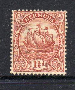 BERMUDA #84  1934  1 1/2p CARAVEL    F-VF USED  c