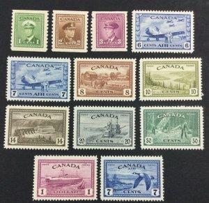 MOMEN: CANADA SG # 1946-48 MINT OG H £ LOT #7119