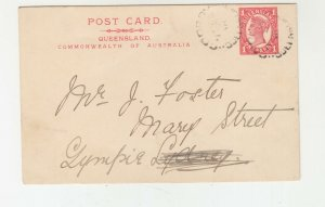 QUEENSLAND, Postal Card 1909 1d. Red, COOROY to Gympie.