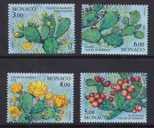 Monaco  #1804a-d  cancelled 1992   life cycle of a cactus plant