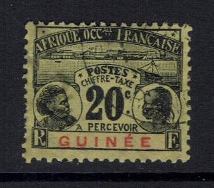 French Guinea SC# J11 - Used (Shallow Thin) - 060516
