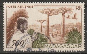Madagascar 1952 Sc C56 air post used