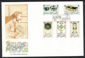 Isle of Man Archibald Knox Artist and Designer 5v FDC SG#403-407