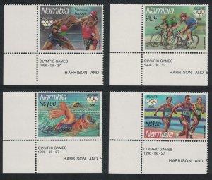 Namibia Boxing Centennial Olympic Games Atlanta 4v Bottom Left Corners
