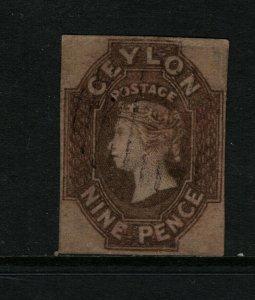Ceylon #9 Used Fine - Very Fine