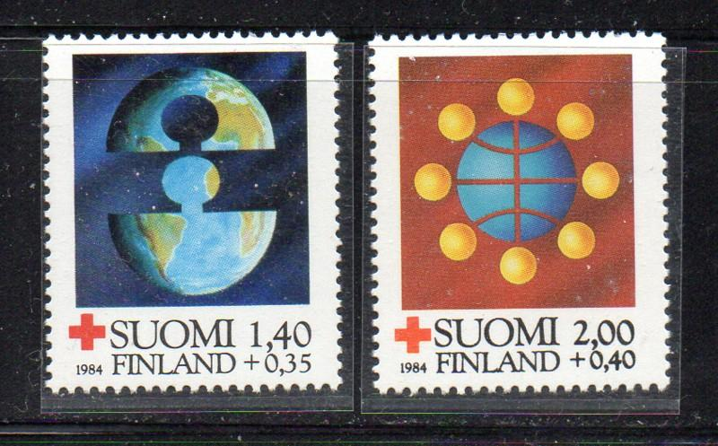 Finland Sc B233-4 1984 Red Cross stamp set mint NH