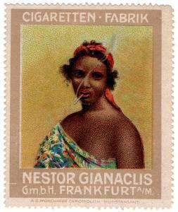 (I.B) Germany Cinderella : Nestor Gianaclis Cigarettes (Native Girl)