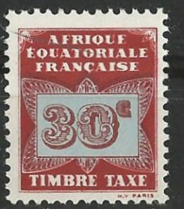 French Equatorial Africa # J5  Postage Due - Butterfly 30c (1) Unused VF
