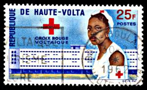 Upper Volta 96, used, Founding of Upper Volta Red Cross
