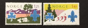 Norway 1975  #656-7, Boy Scouts, Unused/MH.