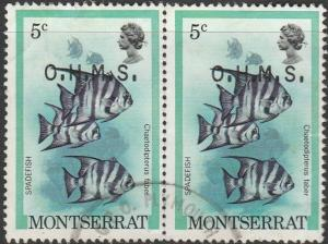 Montserrat, #O45 Used Pair  From 1981