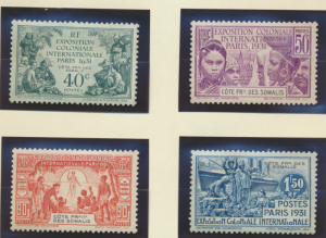 Somali Coast (Djibouti) Stamps Scott #135-8, Mint Hinged, Colonial Exposition...