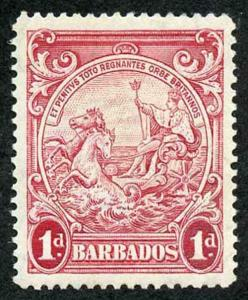 Barbados SG249a 1d scarlet perf 14 (13.8x 14.1) M/M The Key Stamp in the Set