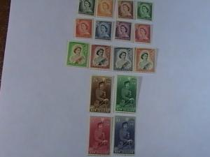 NEW ZEALAND # 288-301-MINT/NEVER HINGED-COMPLETE SET---QEII-1953-57