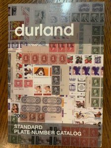 Durland Standard Plate Number Catalog 2000 by Hagendorf ,Stamp Philately Book