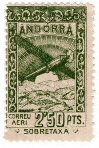 (I.B) Andorra Postal : Air Mail 2.50P