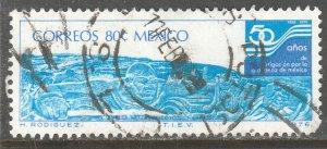 MEXICO 1144, 50th Aniv. Irrigation Proj-Netzahualcoyotl Used. F-VF (1219)