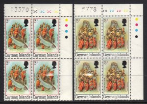 Cayman Islands SC# 452a & 453a MNH  Plate Blocks
