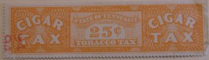 United States State Revenue Tennessee Cigar Tax 25 Cents Mint