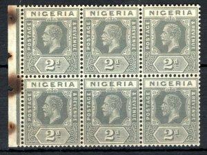 NIGERIA KGV Stamps SG.18var 2d Grey (Die I) BOOKLET PANE (1921) Mint MNH SS3475