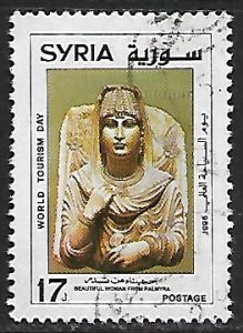 Syria # 1390 - World Tourism Day / Woman from Palmyra - used.....{Gn16}