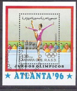 Sahara OCC R.A.S.D 1996 Sport, Olympics, perf. sheet, used  AB.018