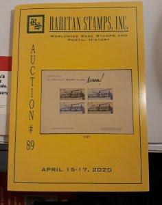RARITAN 2021 AUCTION #89,APR 15-17,RARE STAMPS,RUSSIA,UKRAINE,BIG ROMANIA ESSAY