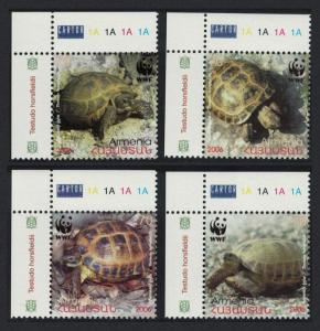 Armenia WWF Four-toed Tortoise 4v Top Left Corners SG#605-608 SC#753-756