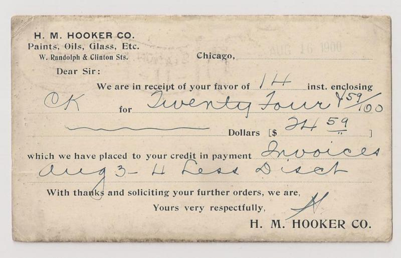 COATED card: UX14 with unusual coating on reverse Chicago IL